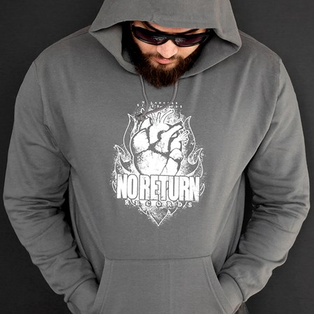 Picture of HERZ IN FLAMMEN - HOODY (grau)