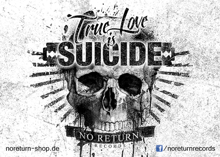 Picture of TRUE LOVE IS SUICIDE - STICKER
